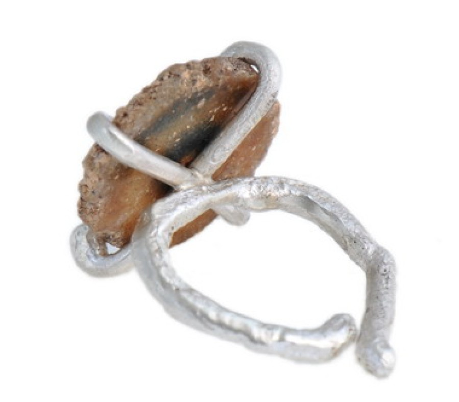 Earthy Stalactite Clutch Ring