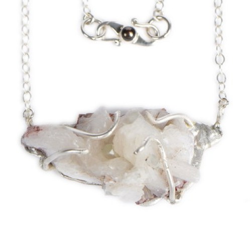 Frosty Stilbite Pendant Necklace