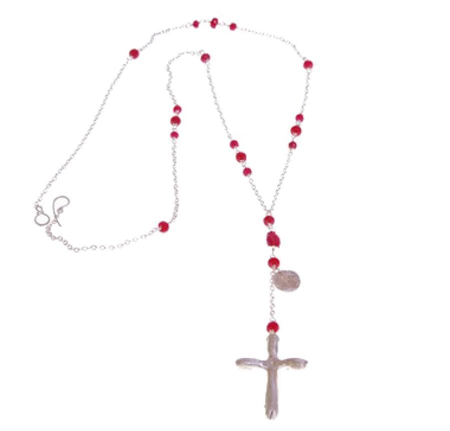 Handmade Silver Cross Necklace
