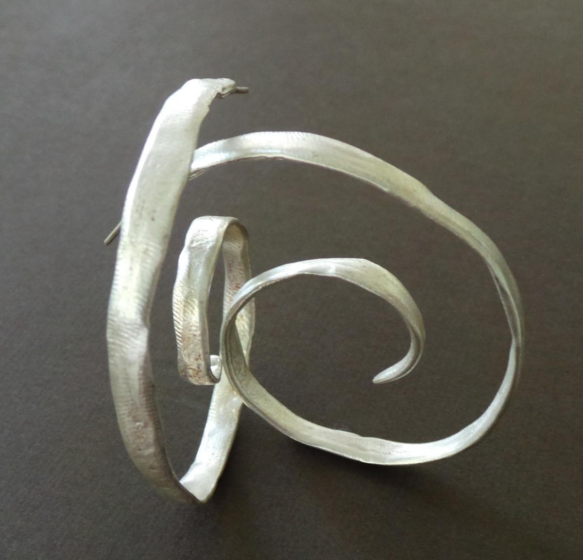 Sterling Spiral Hoop Earrings