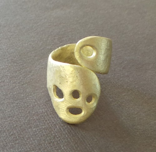 Bronze Crater Wrap Ring