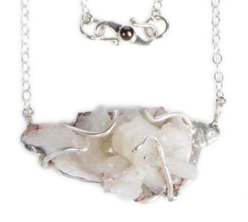 Frosty Stilbite Pendant Necklace