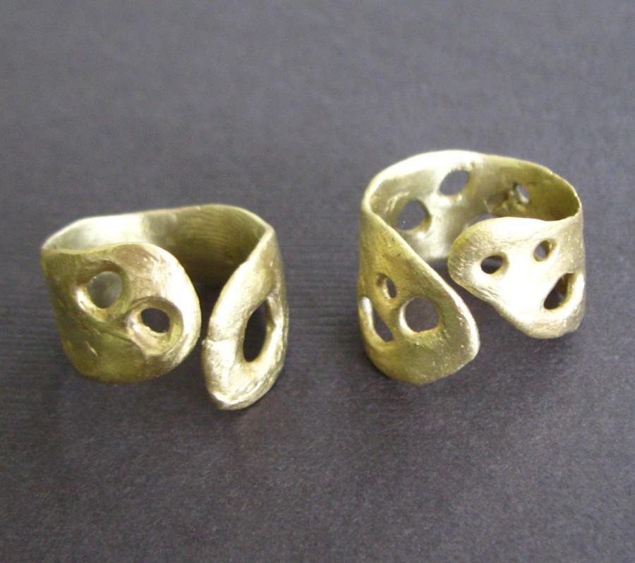 Hand Sculpted Bronze Cross Silk Necklace