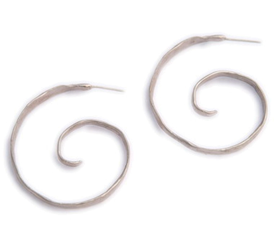 Handmade Cross Aquamarine Earrings