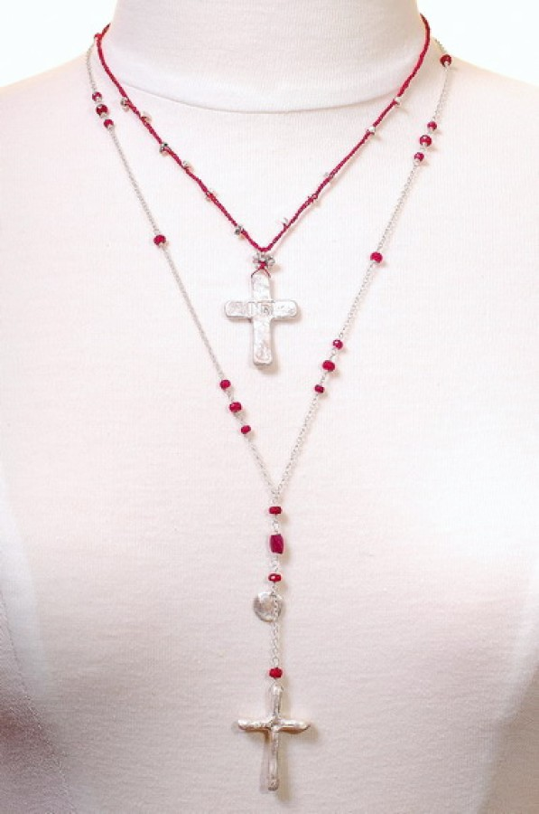 Handmade Silver Cross Necklace