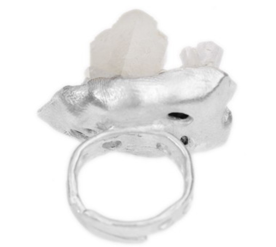 Quartz Cluster Seascape Ring