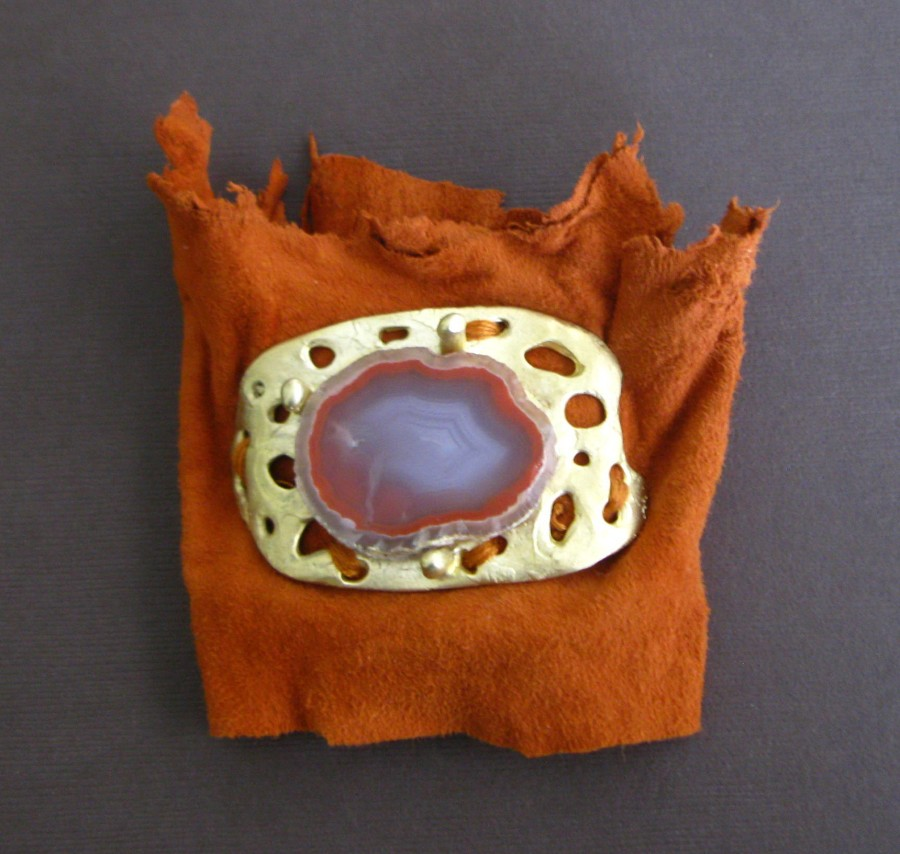 Raw Honey Agate Bronze Ring