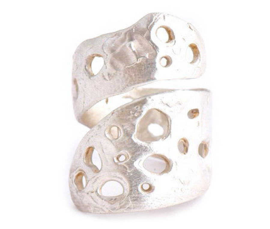 Rough Amethyst Sterling Ring